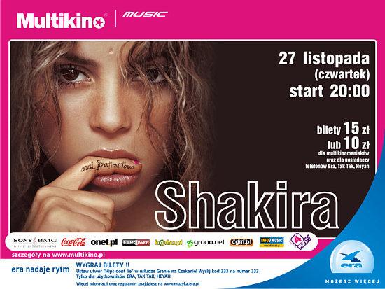 Zobacz Shakirę weWrocławiu!