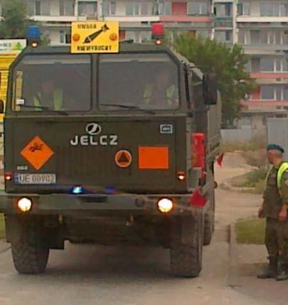 Pociski rakietowe przy ul. Legnickiej