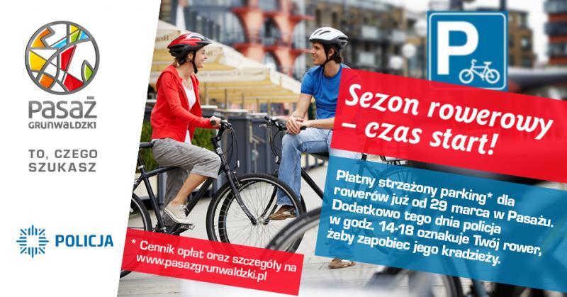 Pasaż Grunwaldzki otwiera parking strzeżony dla rowerów