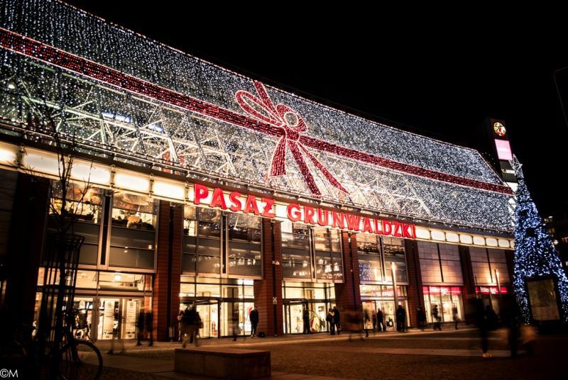 Pasaż Grunwaldzki znową iluminacją świąteczną