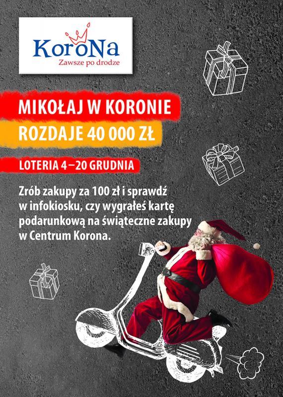 Świąteczna loteria wCentrum Korona