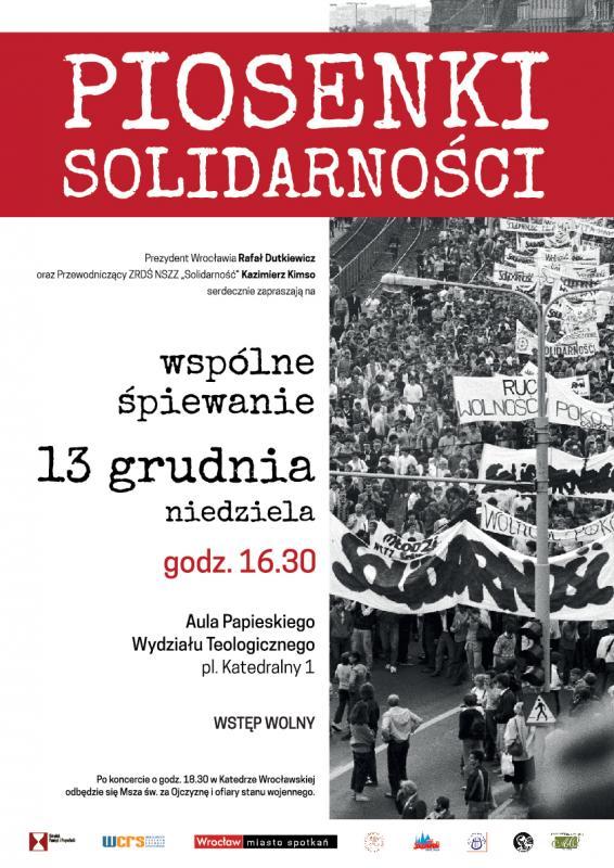 Wrocławskie śpiewanie piosenek solidarnościowych