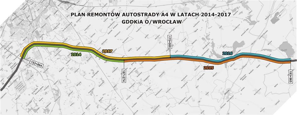 Remont autostrady A4 wwoj. dolnośląskim