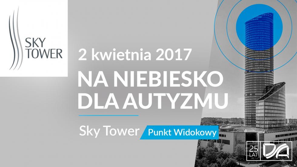 Sky Tower na niebiesko dla autyzmu