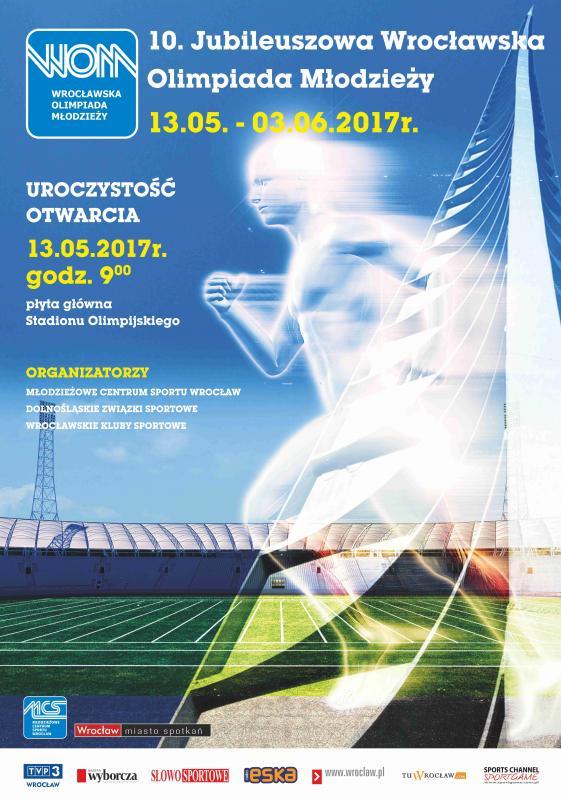 Młodzi sportowcy na jubileuszowej, 10. Wrocławskiej Olimpiadzie Młodzieży