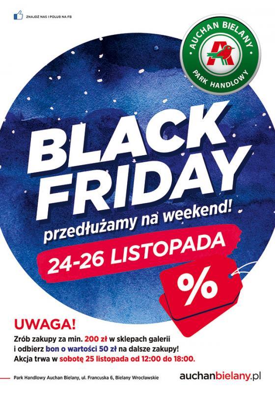 Weekendowy Black Friday wParku Handlowym Auchan Bielany