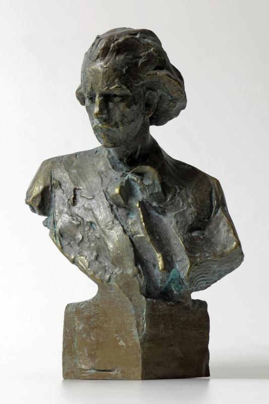 Miniatura popiersia Paderewskiego wPałacu Królewskim