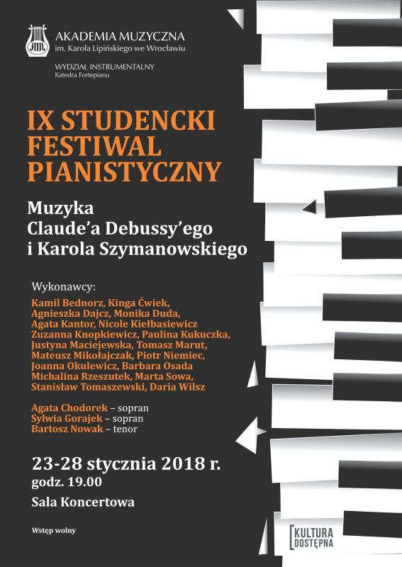 IX Studencki Festiwal Pianistyczny