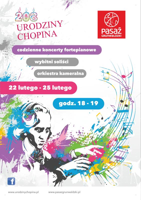 Urodziny Fryderyka Chopina wPasażu Grunwaldzkim