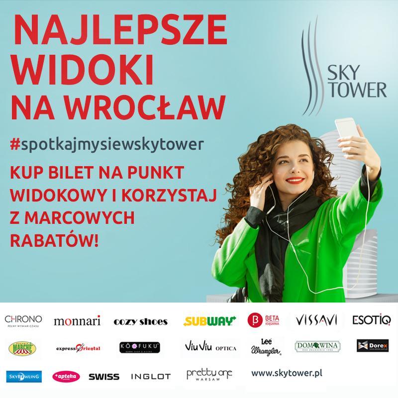 Kup bilet na Punkt Widokowy iskorzystaj zrabatów wSky Tower