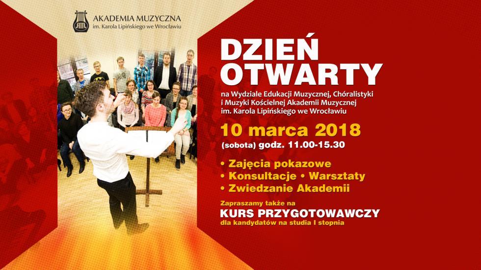 DZIEŃ OTWARTY Wydziału Edukacji Muzycznej, Chóralistyki iMuzyki Kościelnej AMKL