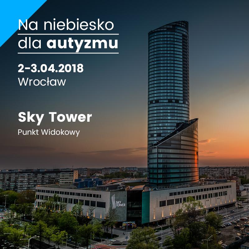 Sky Tower rozbłyśnie na niebiesko