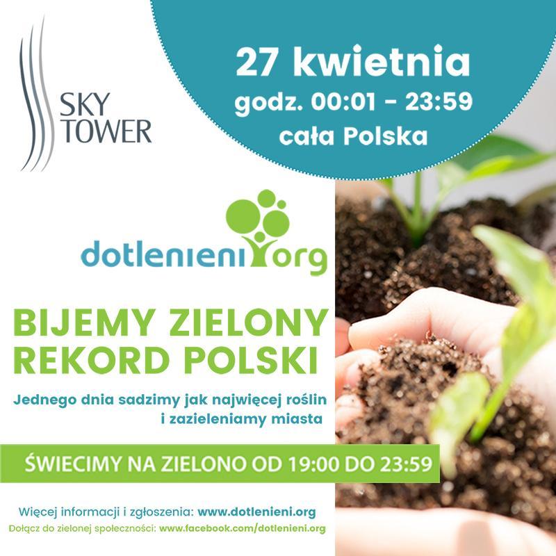 Zielony Rekord Polski ze Sky Tower