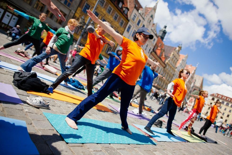 Międzynarodowy Dzień Jogi weWrocławiu