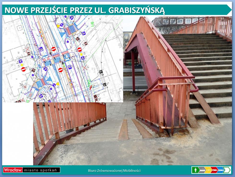 Zniknie kładka nad ulicą Grabiszyńską