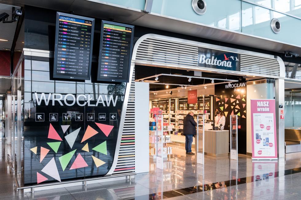 6 sklepów Baltony na wrocławskim lotnisku
