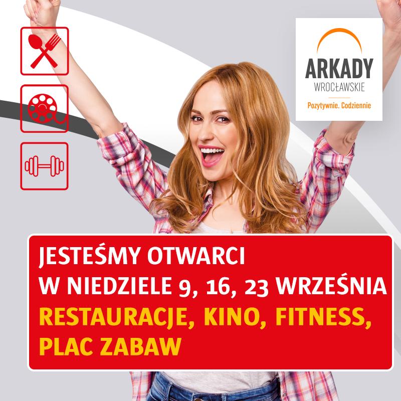 Arkady Wrocławskie – wrześniowe niedziele niehandlowe: 9, 16, 23 września
