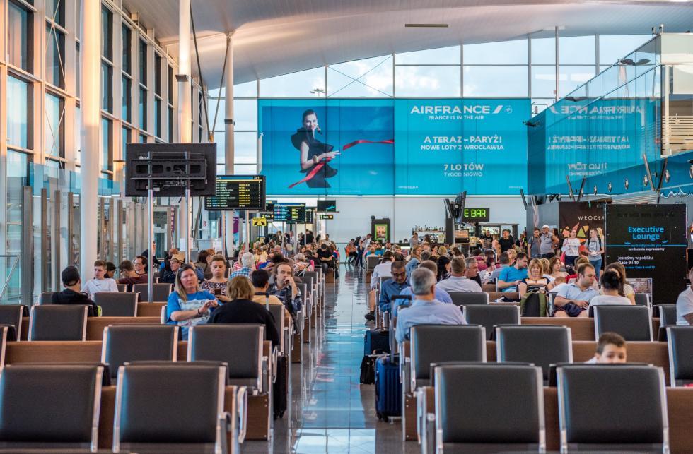 Port Lotniczy Wrocław: znaczące wzrosty odpoczątku roku