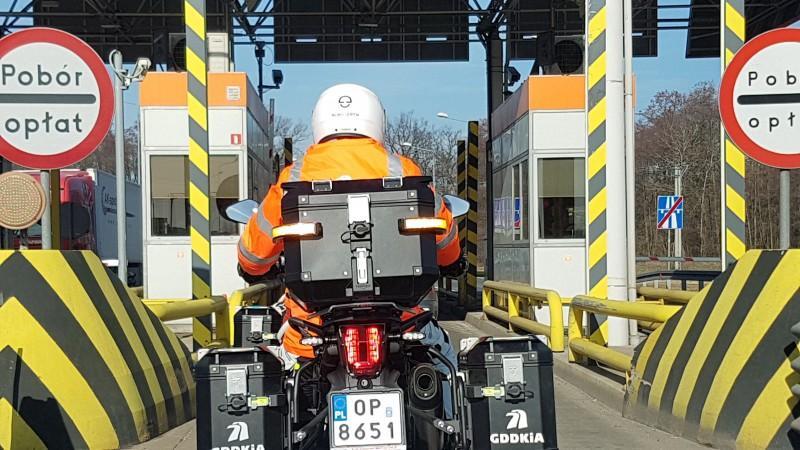 Patrole motocyklowe GDDKiA na autostradzie A4