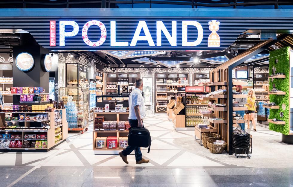 Strefa handlowa Baltony na wrocławskim lotnisku zprestiżową nagrodą