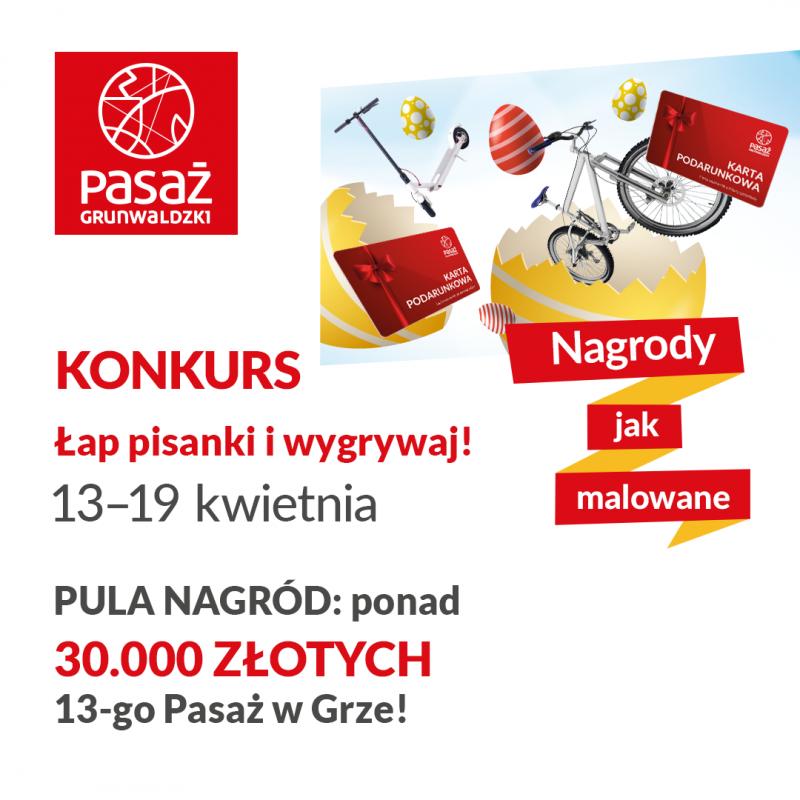 Łap pisanki iwygrywaj - konkurs wielkanocny wPasażu Grunwaldzkim