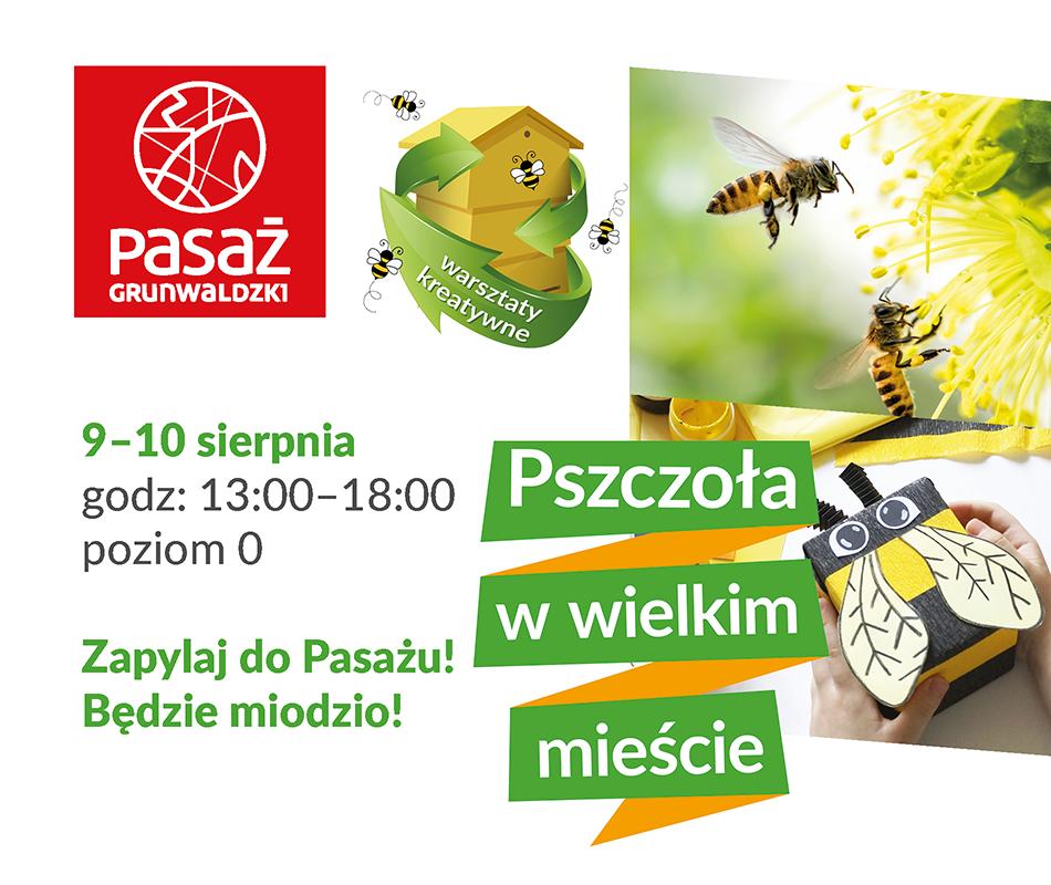 Pszczoła wwielkim mieście – czyli eko wydarzenie wPasażu Grunwaldzkim