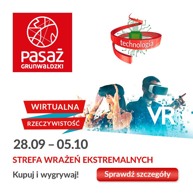 VR iekstremalne wrażenia wPasażu Grunwaldzkim