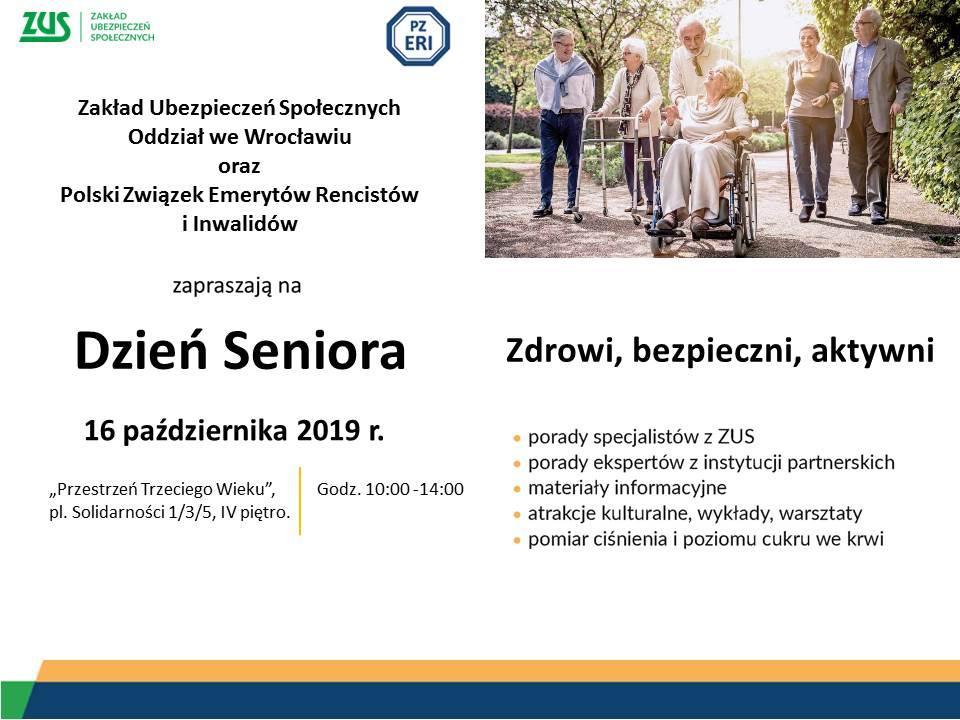 """""""Zdrowi, bezpieczni, aktywni!"""" - Wrocławski ZUS zaprasza seniorów"""