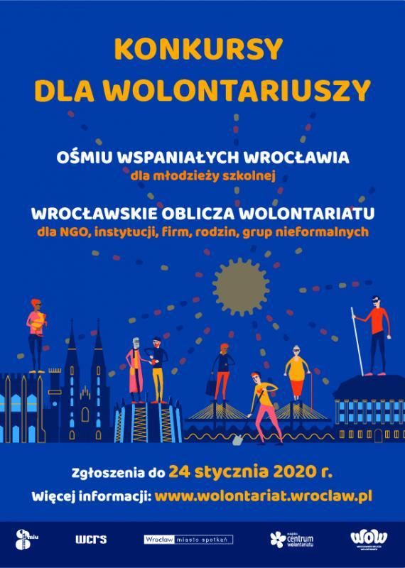 """Ruszają konkursy dla wolontariuszy: """"Ośmiu Wspaniałych"""" oraz """"Wrocławskie Oblicza Wolontariatu"""""""
