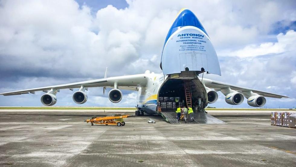MSZ iKGHM: samolot An-225 ztransportem sprzętu wyruszył zChin doPolski