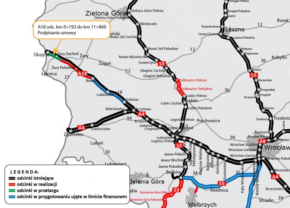 Powoli znikają najdłuższe schody wEuropie - kolejna umowa na przebudowę A18 została podpisana