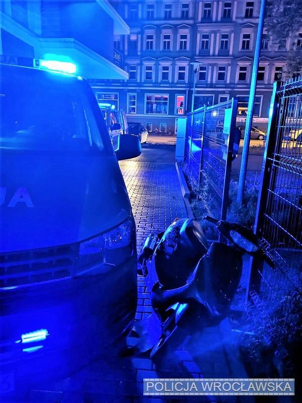 Uciekał skuterem przed policjantami