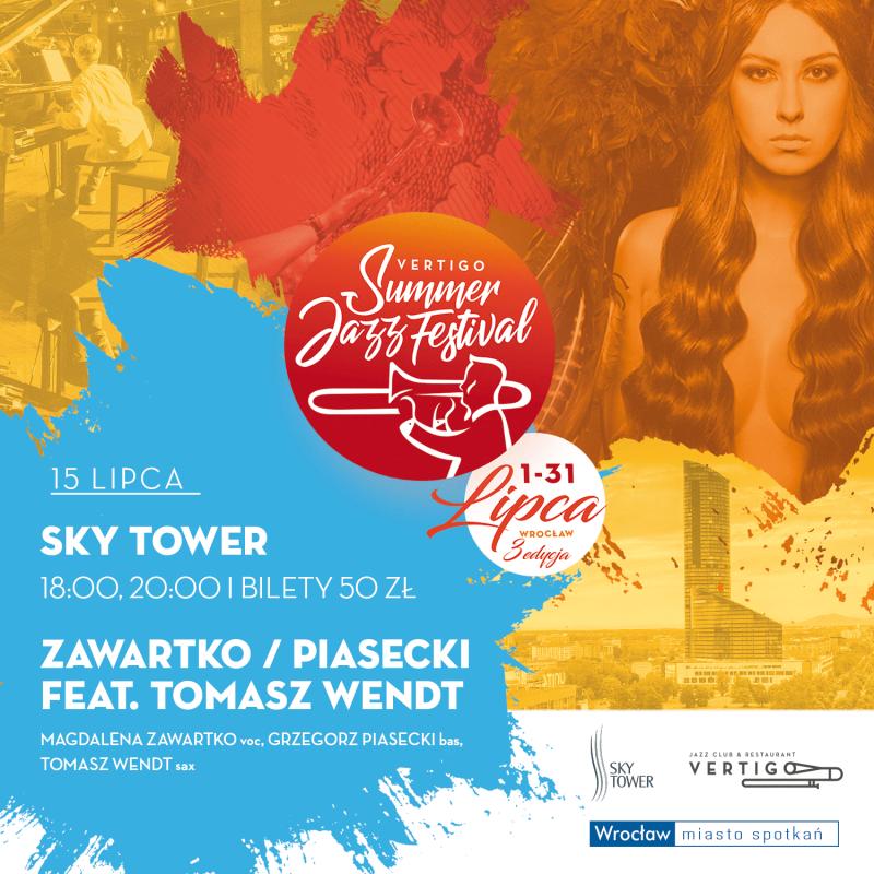 Sky Tower jedną ze scen Vertigo Summer Jazz Festival