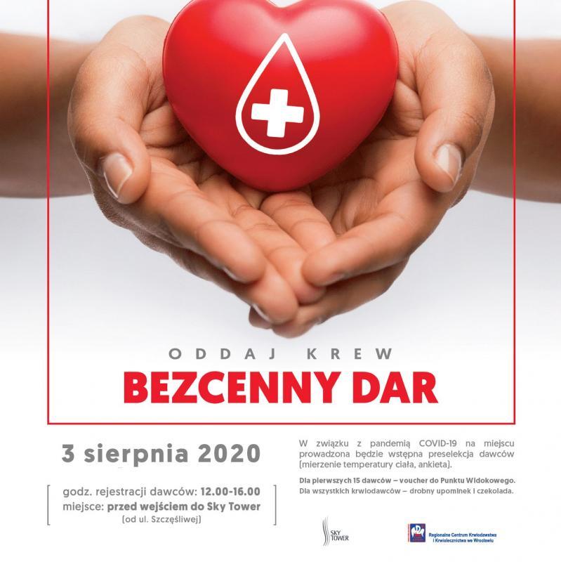 Druga wakacyjna akcja honorowego krwiodawstwa przed Sky Tower