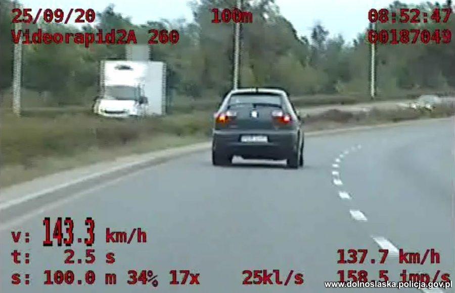 Pędził przez Wrocław 143km/h