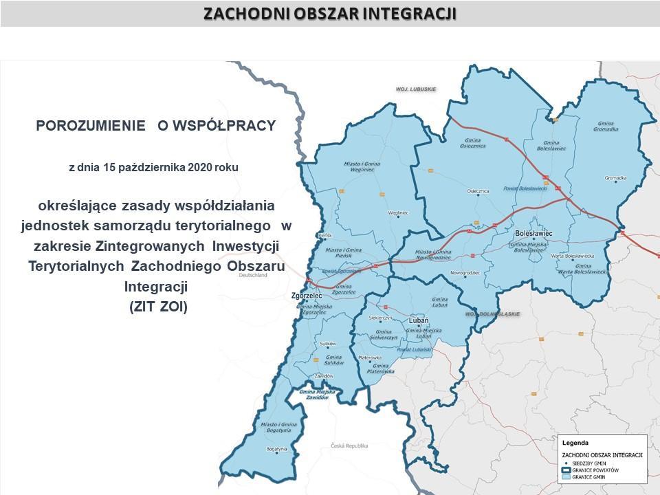 Porozumienie samorządów wzakresie Zintegrowanych Inwestycji Terytorialnych Zachodniego Obszaru Integracji